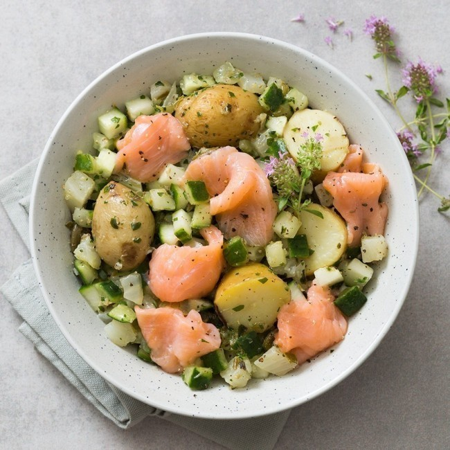 Salade Nordique Saumon fumé - Pommes de terre