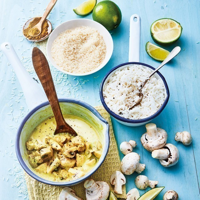 Poulet thaï au curry et lait de coco