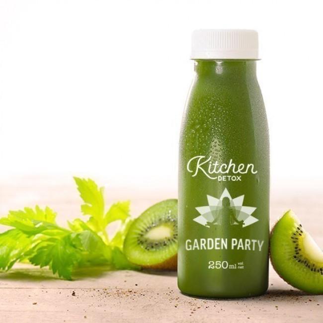 Jus détox GARDEN PARTY - Concombre, kiwi, épinard, basilic et menthe