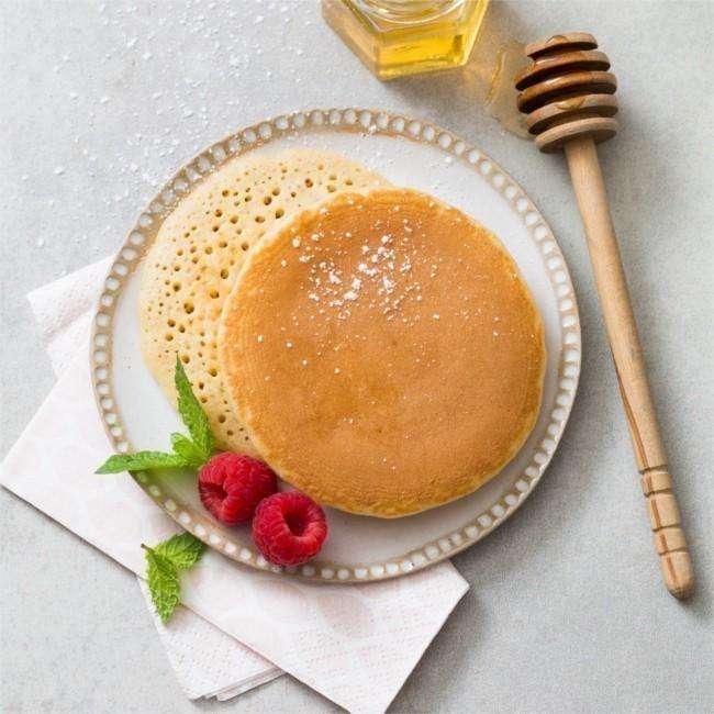 Pancake nature (Crèpes épaisses et moelleuses)