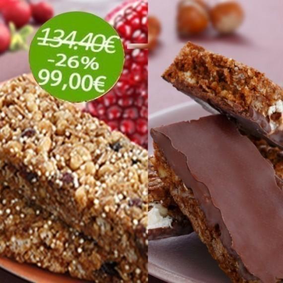 Pack Barres (12 Boîtes) :       6 Boites Cranberries/ Grenade - 6 Boites Chocolat / Noisette / Amande