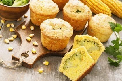 Muffins polenta brocolis